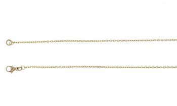 18ct Yellow Gold Fine Trace Necklace 22