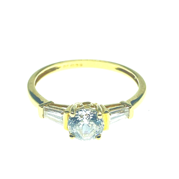 14ct Yellow Gold CZ Ring