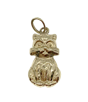 9ct Yellow Gold Lucky Cat Charm