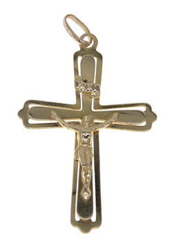 9ct Yellow Gold Large Crucifix