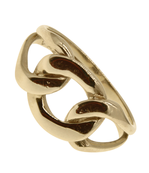 9ct Yellow Gold Curb Chain Ring