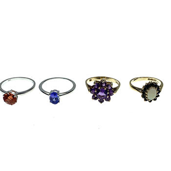 9ct Yellow & White Gold Assorted Gemset Rings
