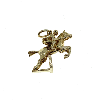 9ct Yellow Gold Horse Jumping Charm