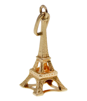 9ct Yellow Gold Eiffel Tower
