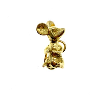 9ct Yellow Gold Mouse Charm