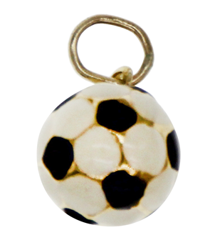 9ct Yellow Gold Football Charm
