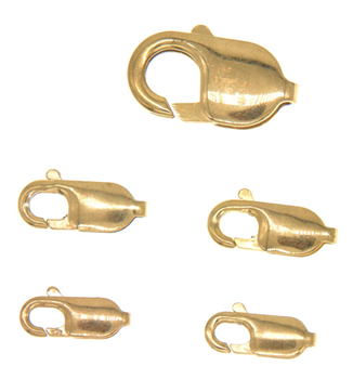 9ct Yellow Gold Assorted Lobster Claw 5 pack
