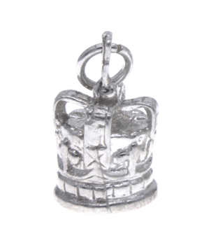 Sterling Silver 925 Crown Charm