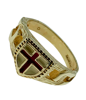 9ct Yellow Gold St George Cross Ring