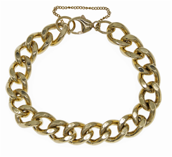 9ct Heavy Curb Bracelet
