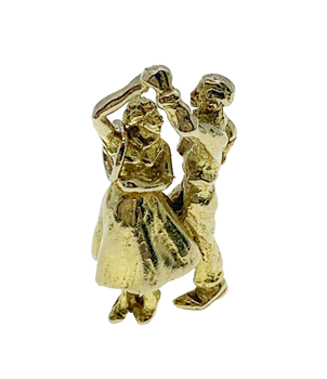 9ct Yellow Gold Dancing Couple Charm