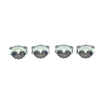 18ct White Gold 2X Pairs of Butterfly Backs