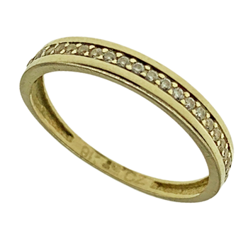 9ct Yellow Gold CZ Half Eternity Band