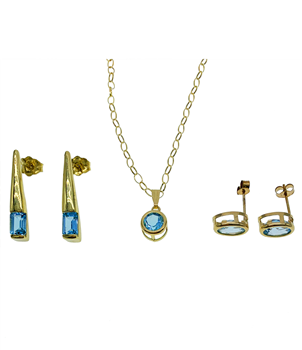 9ct Yellow Gold Set With Earrings