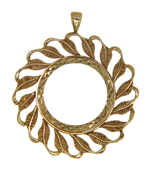 9ct Yellow Gold Full Sovereign Coin Mount Pendant