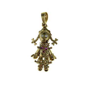 9ct Yellow Gold Clown Charm