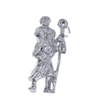 Sterling Silver 925 St Christopher Pendant