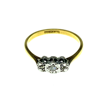 18ct Yellow Gold Trilogy Ring