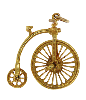 9ct Yellow Gold Unicycle Charm