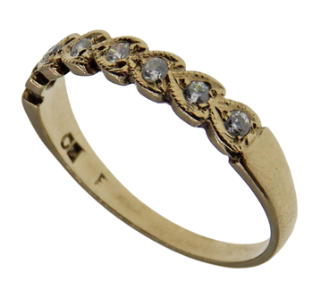9ct CZ Eternity Ring