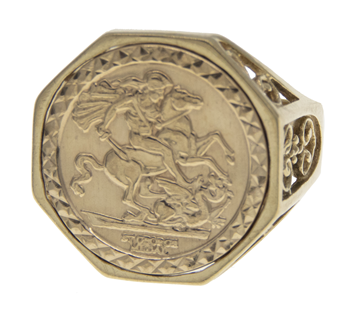 9ct St George & Dragon Medal Ring