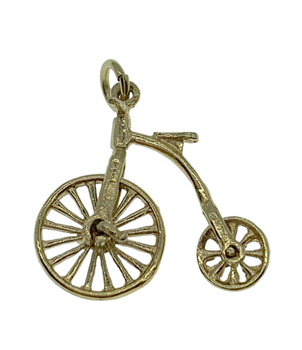 9ct Yellow Gold Penny Farthing Charm
