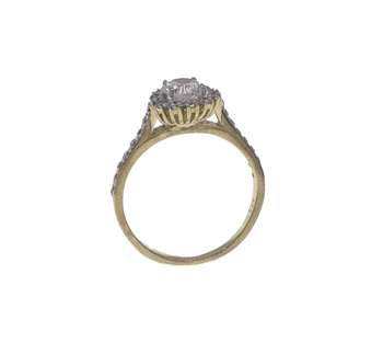 9ct Yellow Gold CZ Gemstone Cluster Ring