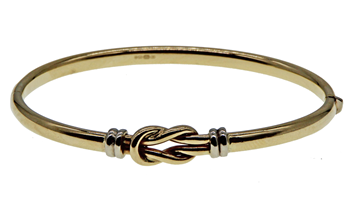 9ct Yellow Gold Fancy Ladies Bangle