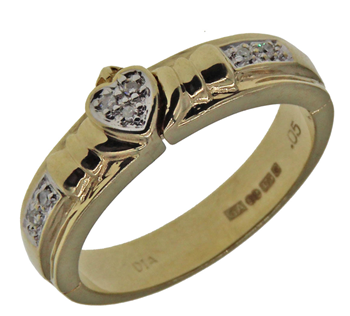 9ct Yellow Gold Open Heart Love Ring