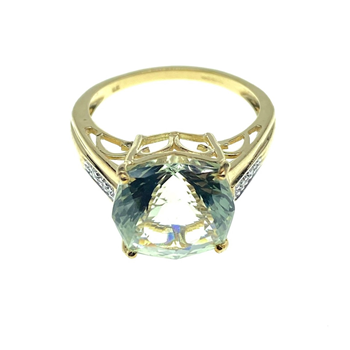 9ct Yellow old Gem Set Ring