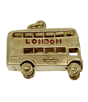 9ct Yellow Gold London Bus Charm