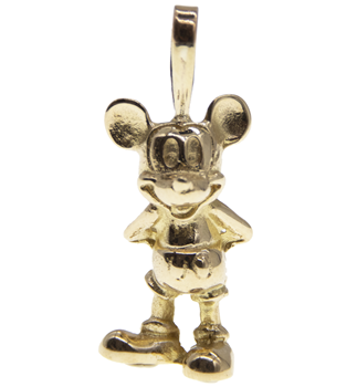 9ct Mickey Mouse Pendant