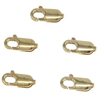 9ct Yellow Gold 11mm Lobster Claw 5 pack