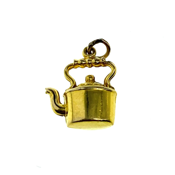 9ct Yellow Gold Kettle Charm