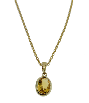 9ct Yellow Gold Necklace With Pendant