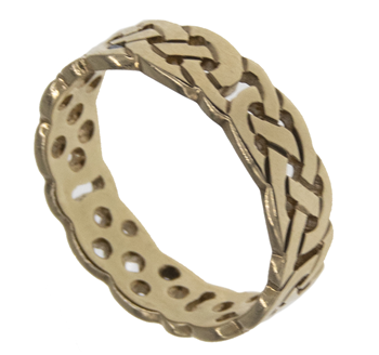 9ct Yellow Gold Celtic Trinity Knot Ring