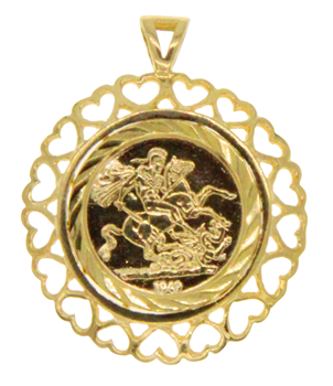 9ct Yellow Gold St. George Pendant