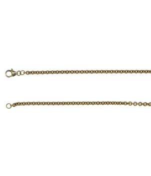 9ct Yellow Gold Round Link Chain