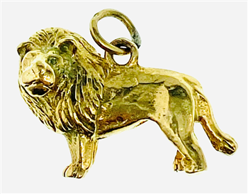 9ct Yellow Gold Lion Charm