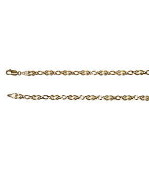 9ct Yellow Gold Fancy Flat Link Chain
