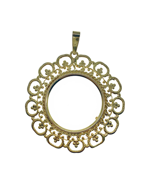 9ct Yellow Gold Sovereign Mount Pendant