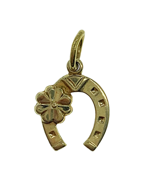 9ct Yellow Gold Horse Shoe Charm