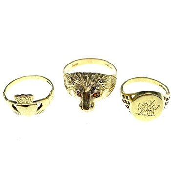 9ct Yellow Gold Ring Assortment.