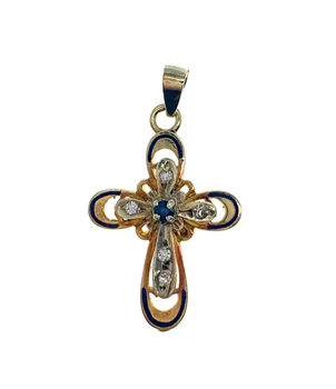 14ct Yellow Gold Cross