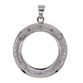 9ct White Gold Coin Mount