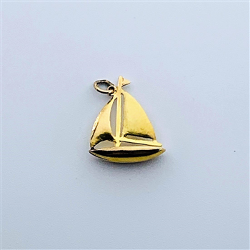 9ct Yellow Gold Sail Boat Charm