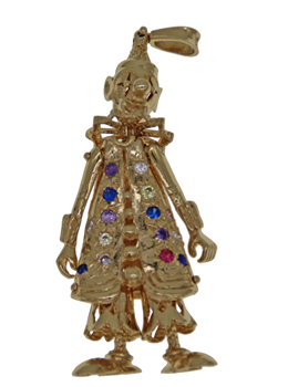 9ct Yellow Gold Clown Pendant