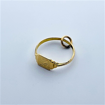 9ct Yellow Gold Ring Charm