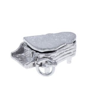 Sterling Silver 925 Piano Charm