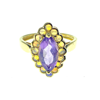 9ct Yellow Gold Gem Set Ring